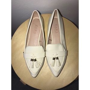 Zara Patent Leather Loafer Flats
